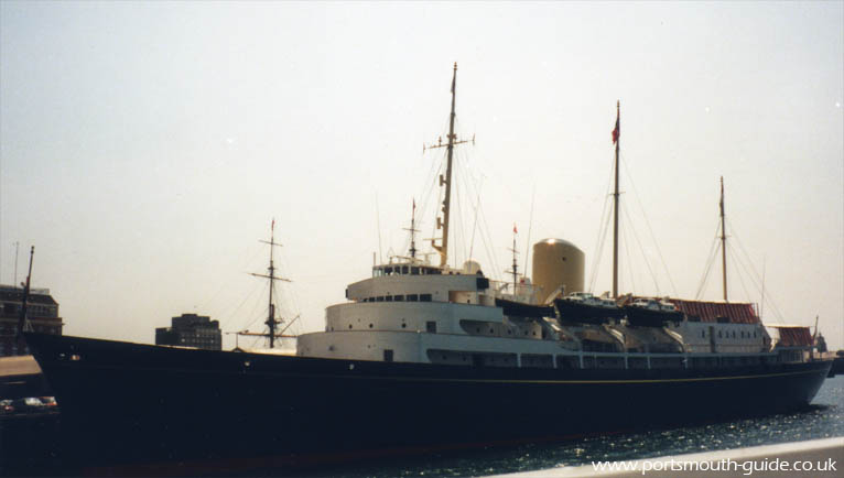 HMY Britannia at Railway Jetty Portsmout Harbour