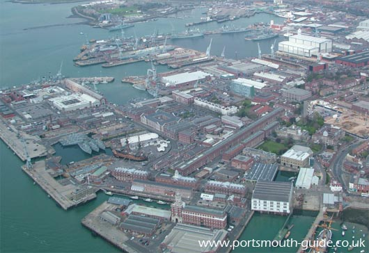 Portsmouth Dockyard From The Air