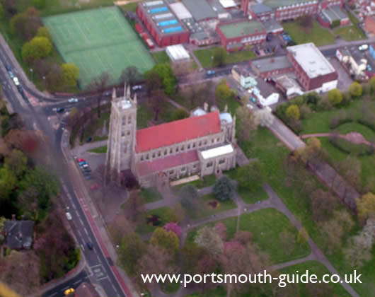 St Mary's Church From The Air
