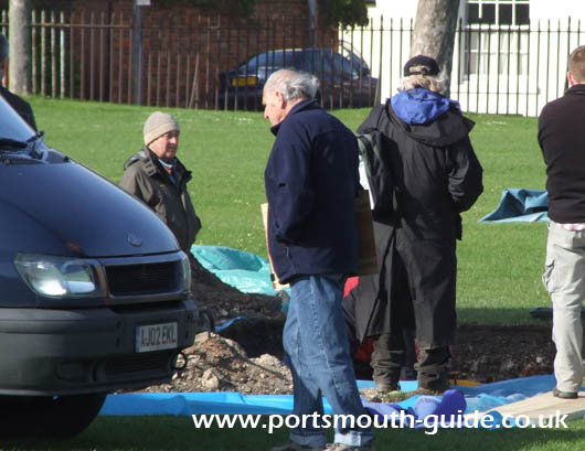 Time Team on Governors Green Portsmouth